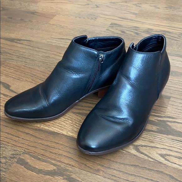 Crown Vintage Black Leather Booties